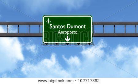 Rio De Janeiro Brazil Airport Highway Road Sign
