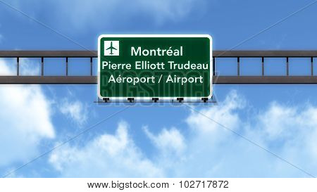 Montreal Canada Airport Highway Road Sign