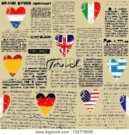 Travel newspaper.
