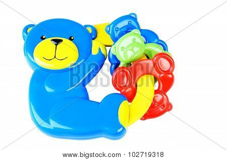 Blue Bear Baby Rattle