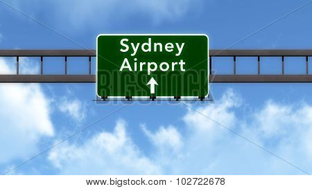 Sydney Australia Airport Highway Road Sign