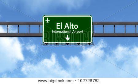 La Paz Bolivia Airport Highway Road Sign