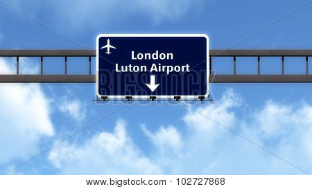 London Luton England United Kingdom Airport Highway Road Sign