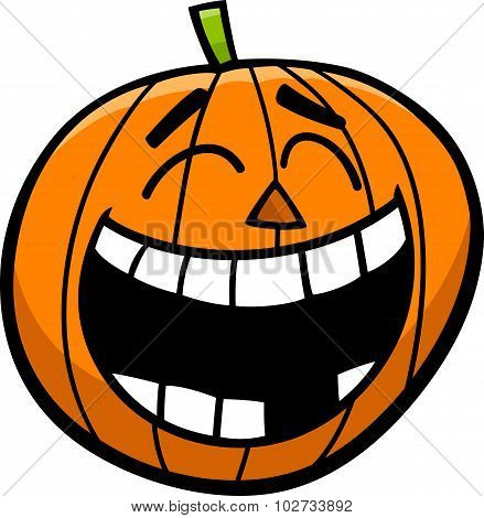 Laughing Pumpkin Cartoon Illustration