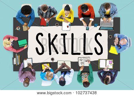 Skills Ability Capacity Talent Technique Concept poster
