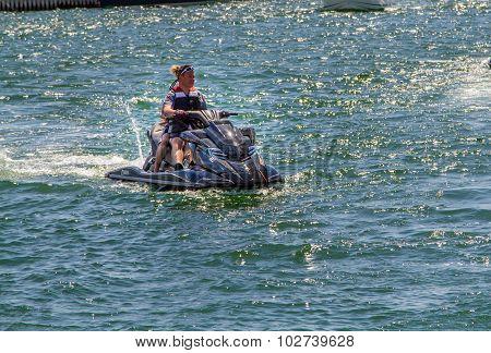 People on a jetski