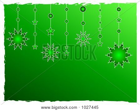 Green Stars Decoration