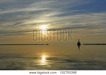Sun And Calm In The Evening