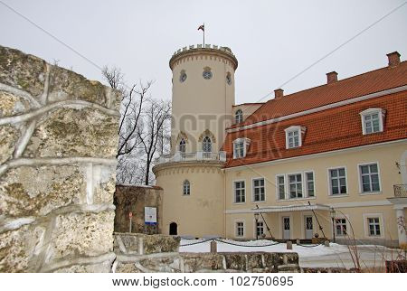 Cesis, Latvia - March 17, 2012: New Castle In Cesis.  It Ws Built In 18Th Century.  Now It Houses Hi