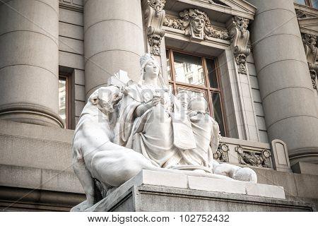 Asia Statue On The U.S. Custom House NYC