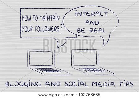 Blogging Advice:interact And Be Real