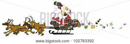 Party Christmas Cartoon, Drunk Driving