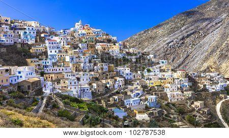 beautiful villages of Greece - impressive Olimbos in Karpathos island