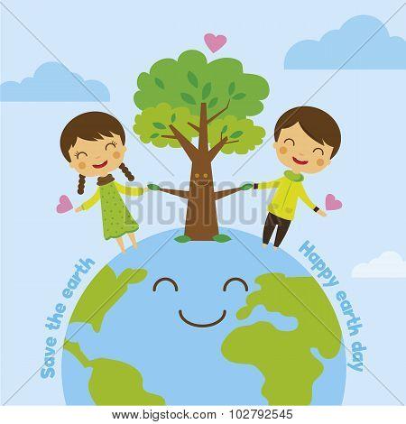 Cartoon Save The Earth, Save World