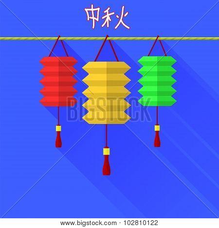 Chinese mid autumn festival graphic design.