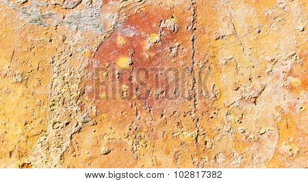 Abstract Building Brick in Orange for an Art Wall