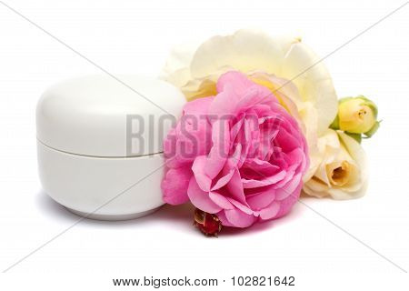 Face Cream With Roses