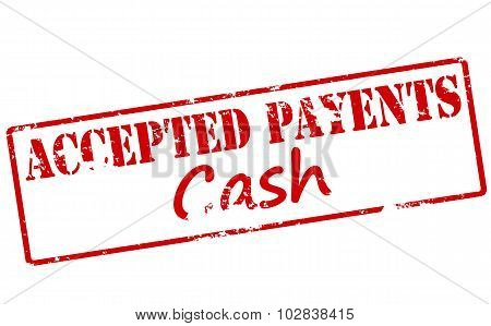 Rubber stamp with text accepted payment inside vector illustration poster