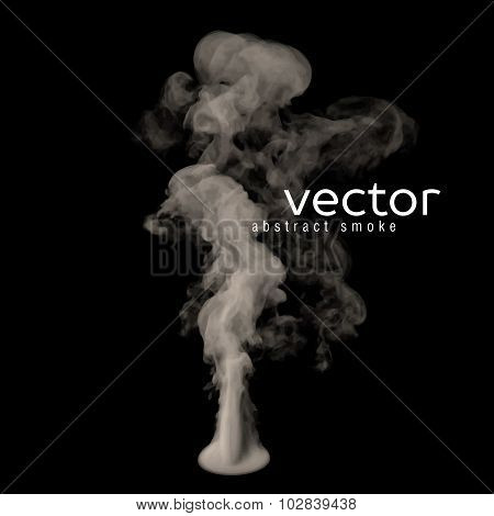 Vector Illustration Of Grey Smoke