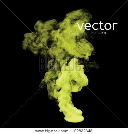 Vector Illustration Of Toxic Smoke