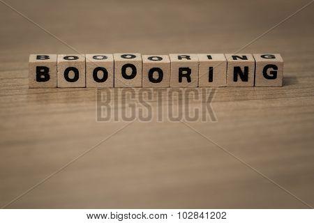 Booooring In Wooden Cubes