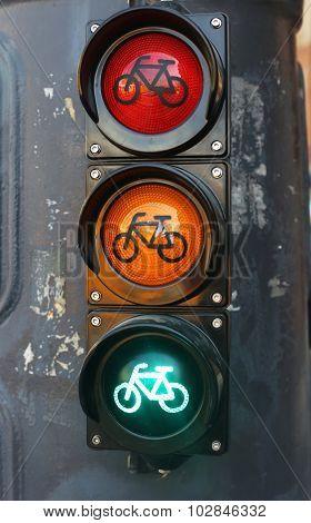Red Orange Green Colored Traffic Lights