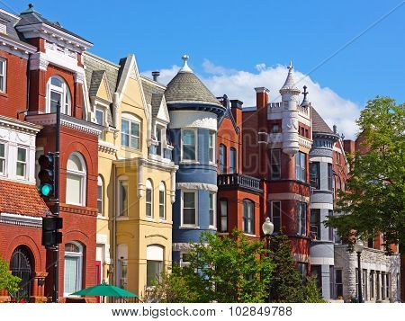 Luxury townhouses of the US capital.