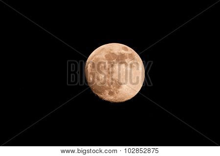 Waxing Gibbous Moon Over Sky At Night.
