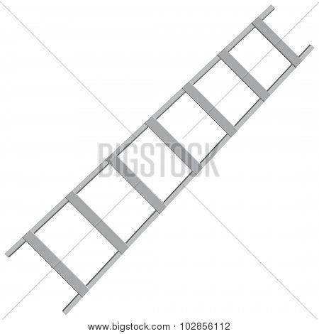 Metal ladder for industrial work. Vector illustration. poster