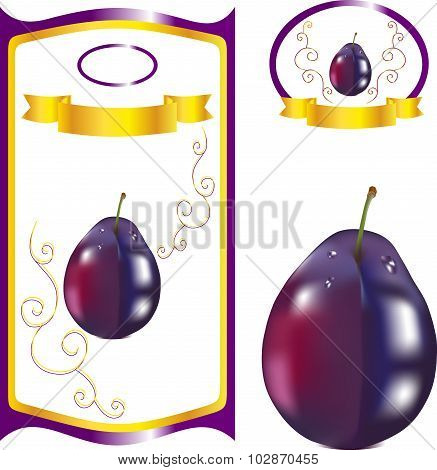 Label for plum