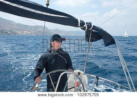 The Captain Controls The Yacht