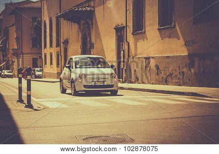 Fiat 500 On Tuscan Street