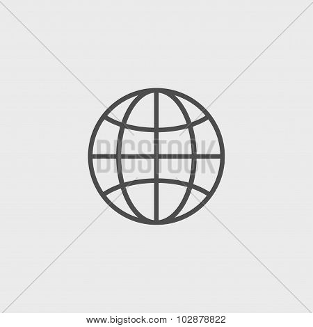 World Globe Icon pictogram icon. Flat design style eps 10 poster