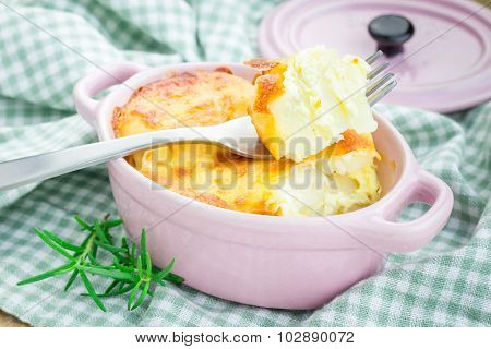 Potato Gratin In Ceramic Mini Cocotte