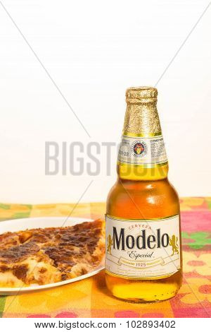 Mexican Beer And Pizza