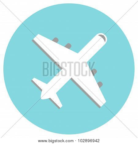 Airplane. Airplane isolated icon. Concept airplane icon. Modern airplane silhouette.