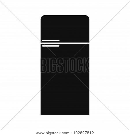 Refrigerator icon. Refrigerator isolated icon on white background. Isolated silhouette fridge icon.