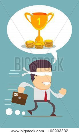 running young man businessman cartoon wow excited surprised happy amazed smile successful leader vec