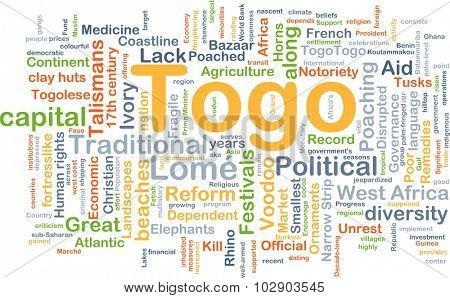 Background concept wordcloud illustration of Togo