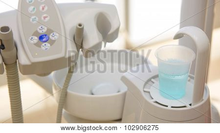 Closeup of a modern dentist tools