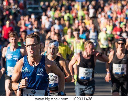 Marathon Runners In Berlin
