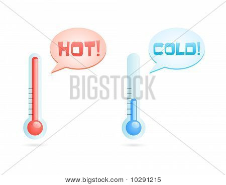 hot and cold temperatures icons