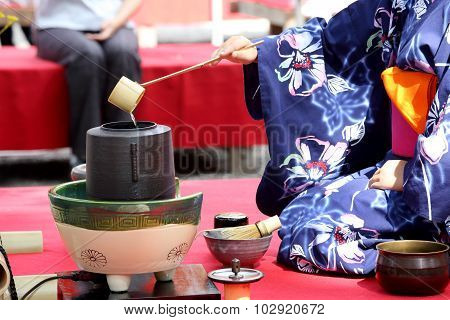 Japanese green tea ceremony