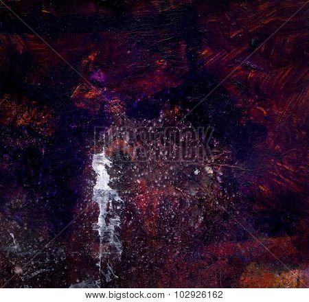 Abstract  background or texture created with multiple layers of  mixed media elements.