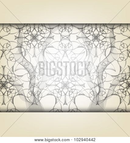 Vector Background With Abstract Fractal Pattern