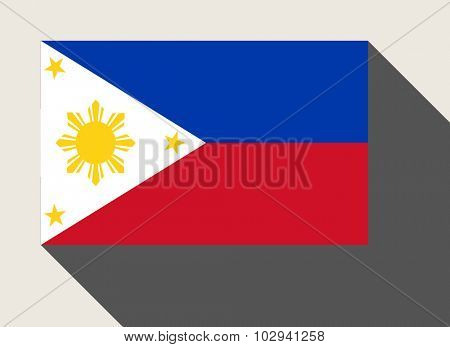 Phillipines flag in flat web design style.