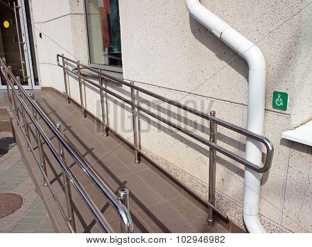 Ramp For Physically Challenged At The Entrance
