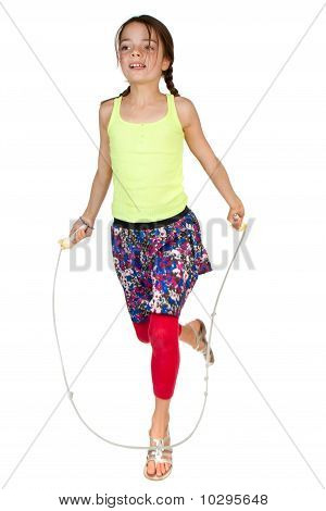 Primary Age Girl Skipping