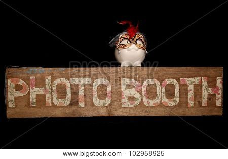 Photo Booth Sign And Piggybank