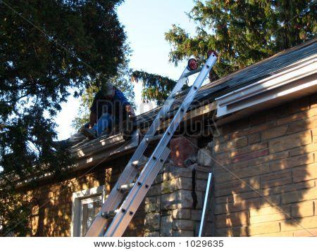 Man Fixing Roof 1
